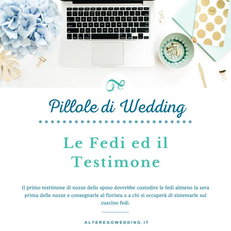 Le Fedi ed il Testimone - Alter ego wedding